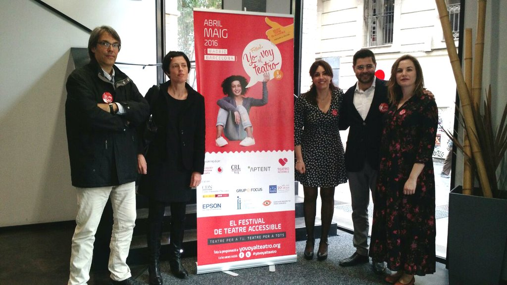 "Presentation of the inclusive festival ""Yo voy al teatro"""