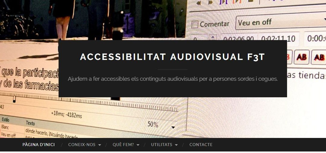 Nou vídeo-tutorial de l'activitat d'Accessibilitat Audiovisual