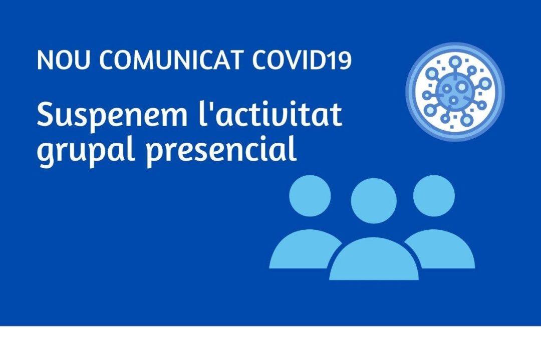 Adaptem els serveis a les noves mesures davant la Covid-19 i tanquem l'activitat grupal presencial de juliol