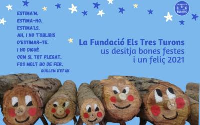 La Fundació us desitja unes molt BONES FESTES i un feliç 2021