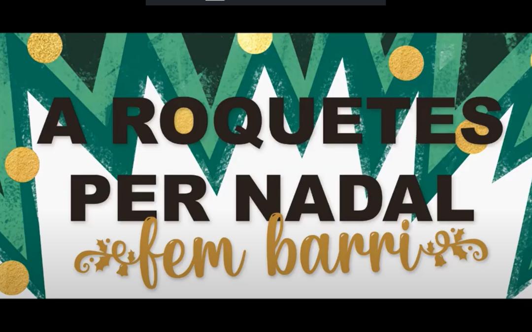 Guarniments de Nadal i promoció d'actius de salut al Pla Comunitari de Roquetes