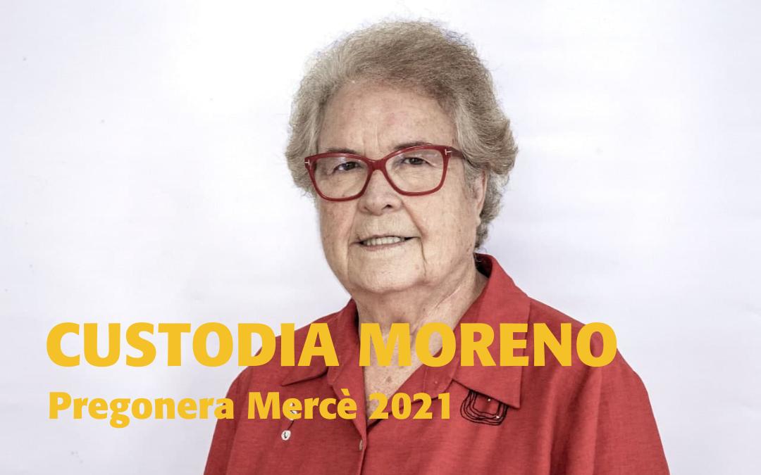 Custodia Moreno pregonera de la Mercè 2021 i patrona de la Fundació